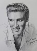 Portrét Elvise od a.m. Filipa Kudrnáče